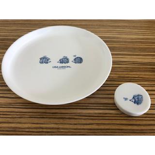 リサラーソン(Lisa Larson)の〈新品・未使用〉LISA LARSONのお皿と箸置きセット リサラーソン (食器)