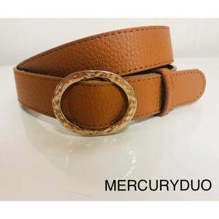 マーキュリーデュオ(MERCURYDUO)の美品 ベルト ブラウン  キャメル MERCURYDUO 穴なし(ベルト)