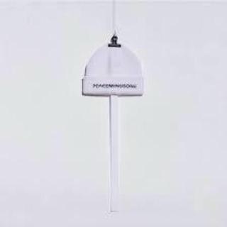 ピースマイナスワン(PEACEMINUSONE)のpeaceminusone 白ニット帽(ニット帽/ビーニー)