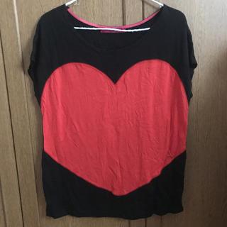 ドーリーガールバイアナスイ(DOLLY GIRL BY ANNA SUI)のドーリーガールバイアナスイ ハートTシャツ(Tシャツ(半袖/袖なし))