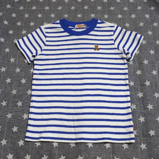 mikihouse(ミキハウス)のミキハウス Tシャツ 100 ボーダー キッズ/ベビー/マタニティのキッズ服男の子用(90cm~)(Tシャツ/カットソー)の商品写真