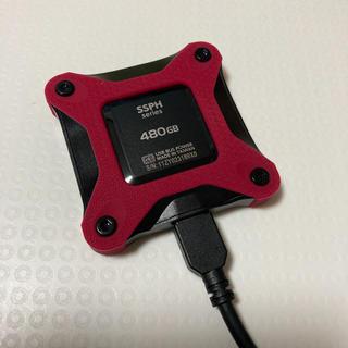 アイオーデータ(IODATA)の外付けポータブルSSD 480GB IOデータ(PC周辺機器)
