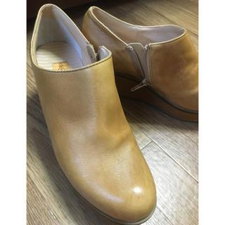アシナガオジサン(あしながおじさん)のあしながおじさん 厚底デザイン本革レザーウッドソールスリッポン(ローファー/革靴)