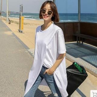 ZARA - 人気のTシャツワンピース ロングTシャツ 半袖 レディーストップス