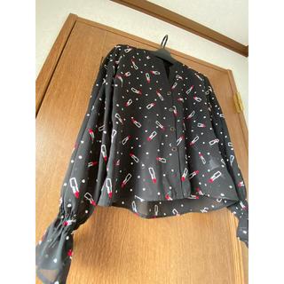 GRACE CONTINENTAL - グレース♡リップ刺繍シャツ♡美品です