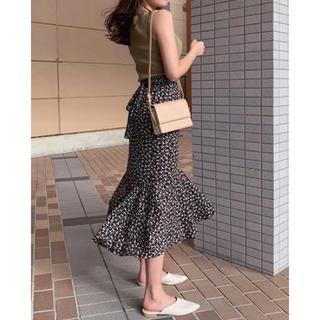 snidel - タグ付き スナイデル ツイルカッセンマーメイドスカート