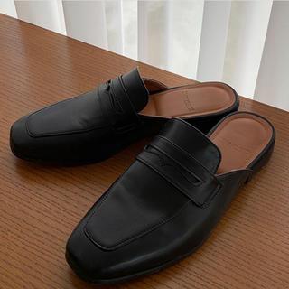 Hender Scheme - leather sandal  black レザー ローファー 黒