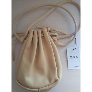 GRL - エコレザー巾着ポシェット 新品