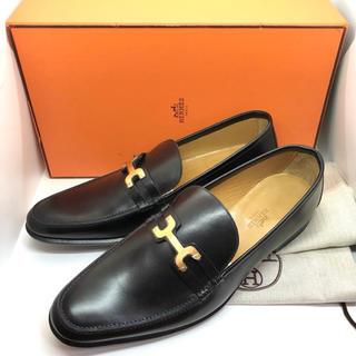 エルメス(Hermes)の未使用 Hermes 革靴 ローファー ブラック レザー(スリッポン/モカシン)