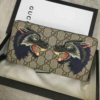 Gucci - ✨極美品✨ Gucci GGスプリーム ウルフ 狼 長財布