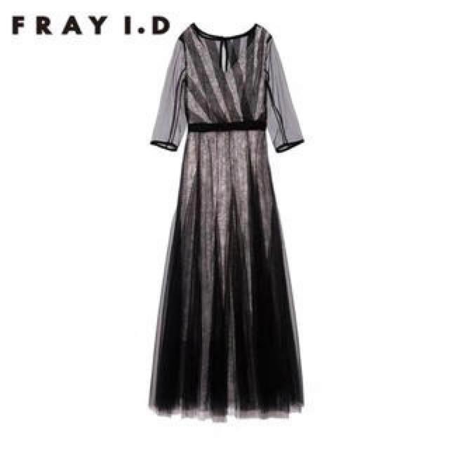 FRAY I.D(フレイアイディー)の【正規品】FRAY I.D(フレイアイディー) チュールレースドレス レディースのフォーマル/ドレス(ロングドレス)の商品写真