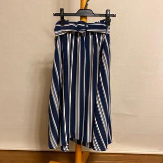 CECIL McBEE - CECILMcBBE💙ベルト付きストライプスカート