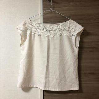 クチュールブローチ(Couture Brooch)のクチュールブローチ♥デコルテレースブラウス(カットソー(半袖/袖なし))
