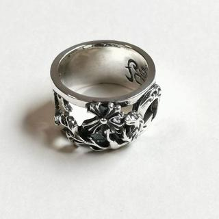 クロムハーツ(Chrome Hearts)のWOLFMAN B.R.S ウルフマン ケルティックウルフw/ムーンクロスリング(リング(指輪))
