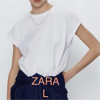 ZARA - 新品 シームディテール入りTシャツ L