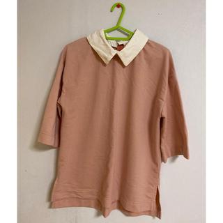 SPINNS - 【着画有】SPINNS 5分丈サイドスリットTシャツ