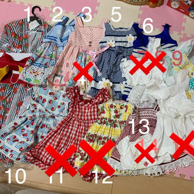 Shirley Temple(シャーリーテンプル)のシャーリーテンプル 11点セット ワンピース 浴衣 エプロン トップス キッズ/ベビー/マタニティのキッズ服女の子用(90cm~)(ワンピース)の商品写真