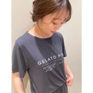 gelato pique - ジェラートピケ レーヨンロゴ Tシャツ&ロングパンツ グレー
