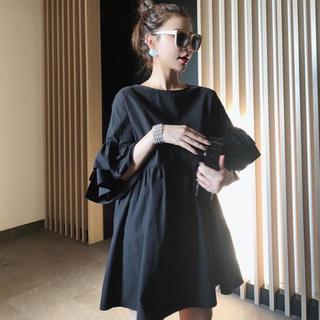 大人気♡フリルミニワンピース チュニック 韓国 夏服