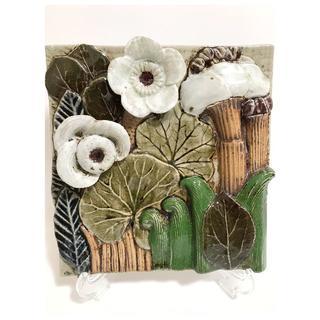 リサラーソン(Lisa Larson)の超稀少 リサラーソン Flora フローラ 陶板 入手困難 グスタフスベリ(置物)