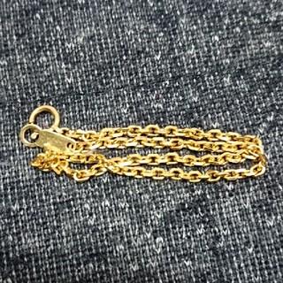 k18 ブレスレット  チェーン(鎖型) 刻印有り(ブレスレット/バングル)