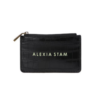 ALEXIA STAM - ALEXIA STAM Logo Card Case Black 新品