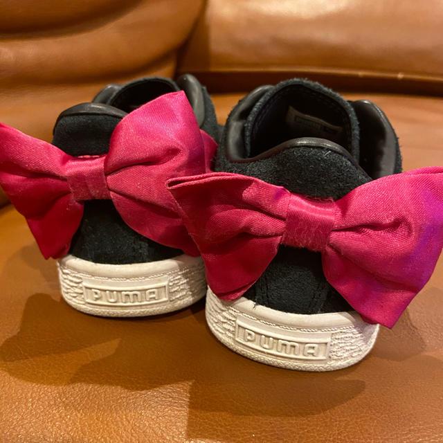 PUMA(プーマ)のPUMA キッズ スエード リボン スリッポン スニーカー 17cm キッズ/ベビー/マタニティのキッズ靴/シューズ(15cm~)(スニーカー)の商品写真