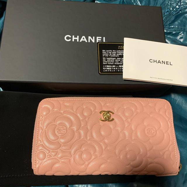 CHANEL(シャネル)のayu様 シャネル 財布 カメリア ピンク 未使用 レディースのファッション小物(財布)の商品写真