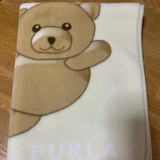 フルラ(Furla)のFURLA ひざ掛け毛布 茶色クマ(おくるみ/ブランケット)