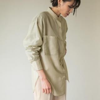 LOWRYS FARM - シルキーシアーロングシャツ(ピスタチオグリーン)