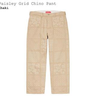 シュプリーム(Supreme)のsupreme Paisley Grid Chino Pant 34 Lサイズ(チノパン)