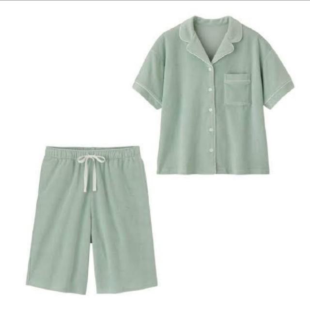 GU(ジーユー)のGU×SABON コラボ パイルパジャマ Sサイズ ライトグリーン レディースのルームウェア/パジャマ(パジャマ)の商品写真