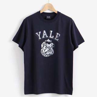 ルクールブラン(le.coeur blanc)の新品タグ付き☆YALE◆ブルドッグTシャツ ネイビー(Tシャツ(半袖/袖なし))
