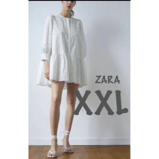ZARA - 【新品・未使用】ZARA カットワーク刺繍入り ワンピース XXL