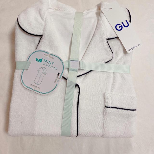 GU(ジーユー)のGUパイルパジャマワンピース サボンコラボ レディースのルームウェア/パジャマ(パジャマ)の商品写真