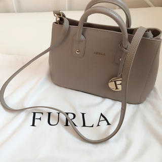 Furla - 美品 FURLA フルラ リンダミニトートバッグ ショルダーバッグ グレー