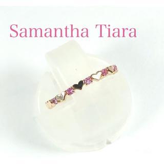 サマンサティアラ(Samantha Tiara)のサマンサティアラ K18PG ピンクサファイア プリティエタニティ リング(リング(指輪))