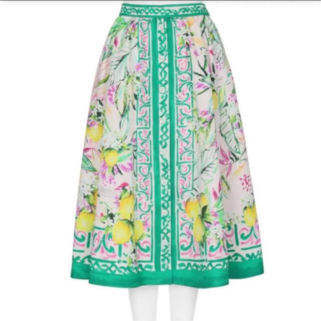 Chesty(チェスティ)の最終価格❤️新品タグ付💚chesty レモンプリントスカート サイズ1 レディースのスカート(ひざ丈スカート)の商品写真