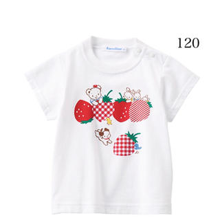 familiar - 新品 ファミリア   半袖Tシャツ 120 いちご