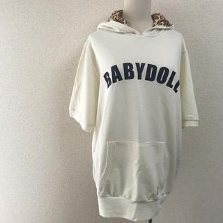 BABYDOLL - BABYDOLL 半袖パーカー フードヒョウ柄