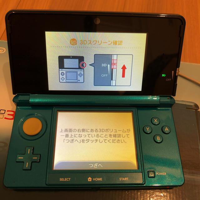 ニンテンドー3DS(ニンテンドー3DS)のNintendo 3DS 本体 アクアブルー 難あり エンタメ/ホビーのゲームソフト/ゲーム機本体(携帯用ゲーム機本体)の商品写真