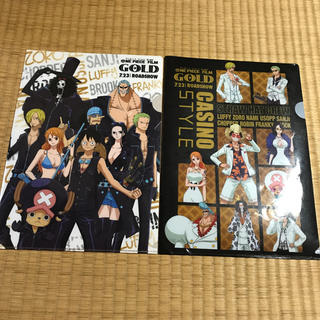 ONEPIECE FILM GOLD 限定クリアファイル 2枚(クリアファイル)