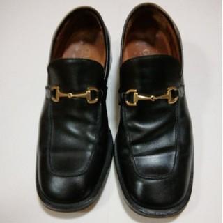 Gucci - GUCCI正規品 ビットローファー 42E 26.5cm ビジネス黒革靴
