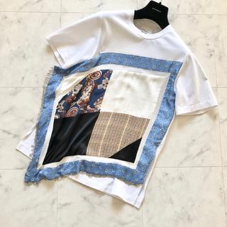 スリーワンフィリップリム(3.1 Phillip Lim)の'18 3.1Phillip lim 着用一回のみ パッチワークTシャツ XS(Tシャツ(半袖/袖なし))