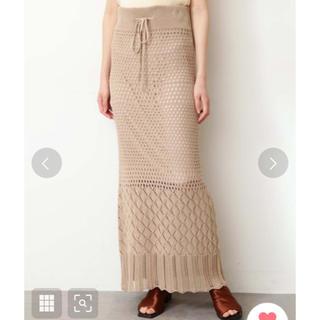 フリーズマート(FREE'S MART)のフリーズマート 透かし編みニットタイトスカート(ロングスカート)