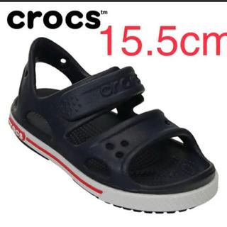 crocs - クロックス 15.5cm キッズ サンダル 子供 ネイビー 紺