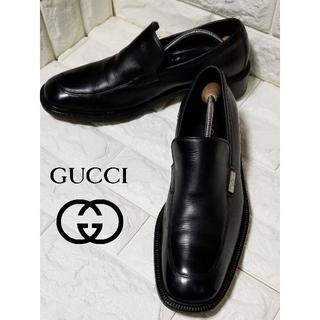 Gucci - 【GUCCI】スリッポン size42E(27.0cm) 黒