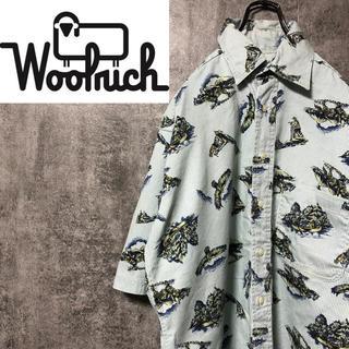WOOLRICH - 【激レア】ウールリッチ☆メキシコ仕上げ半袖ハンティング柄総柄ストライプシャツ