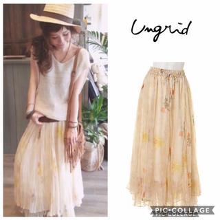 Ungrid - Ungrid**フラワープリントマキシスカート