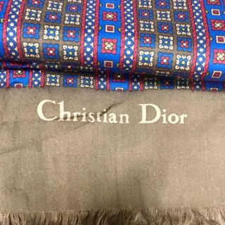 クリスチャンディオール(Christian Dior)のChristian Dior クリスチャンディオール ストール シルク(バンダナ/スカーフ)